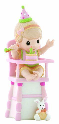 "Precious Moments ""Hip, Hip, Hooray, You're One Year Old Today"" Girl Figurine - Figurine, Girl, Hooray, Moments, Precious, Today, Year, You're"