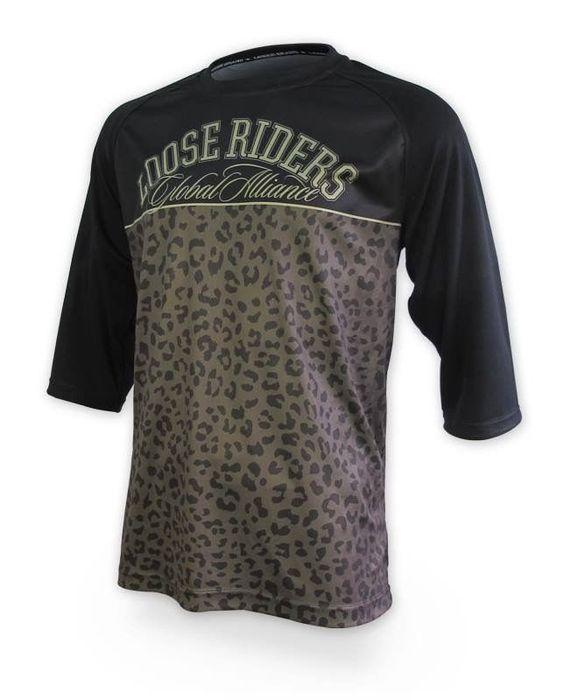 Loose Riders Herren LEO BLOCKS Jerseys 3/4 arm.Sportwear,Bike,Radsport Style