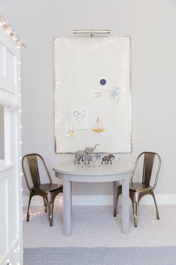 Modern Nautical Big Kids Room Reveal Crafts Table And
