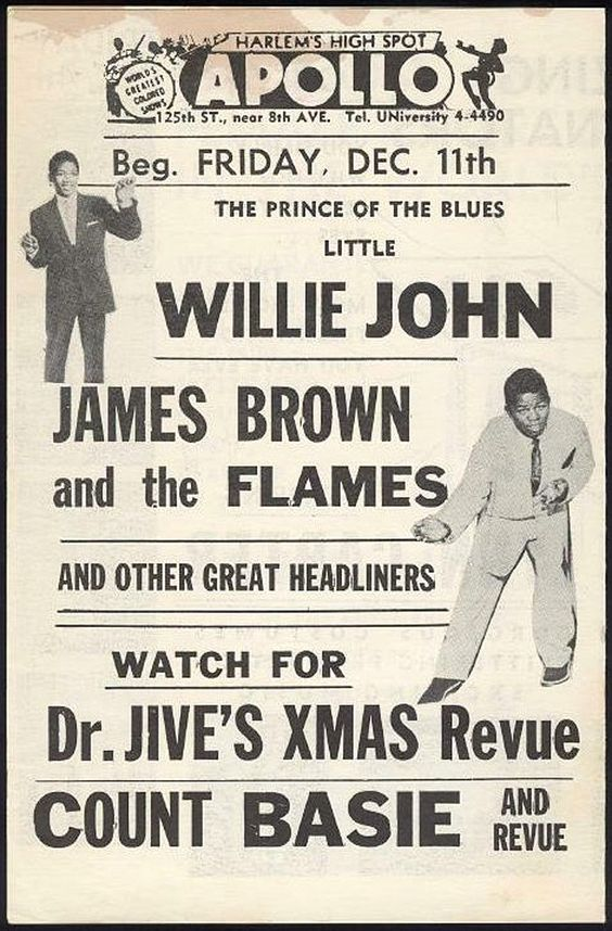 James Brown Poster | Poster: Little Willie John, and James Brown & The Flames Rolls Posters ...