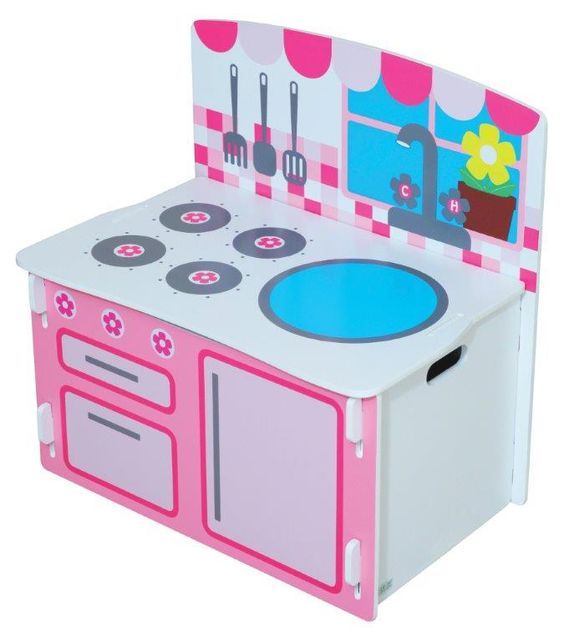 Ba l de juguetes cocina de kidsaw un - Baul juguetes ...