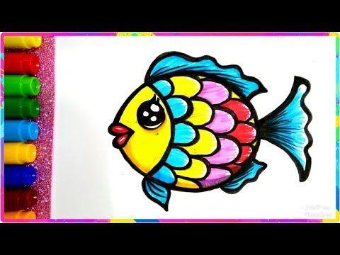 رسم سمكة جميلة وسهلة للأطفال خطوة بخطوة رسم سهل جدا رسم سمك بسيط بالخطوات Youtube Art Lessons Art Enamel Pins