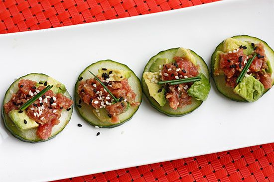 Spicy Crunchy Tuna Tartare #lowcarb #appetizer #highprotein #weightwatchers 5 points+