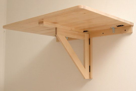 Diy 47 Ikea Standing Laptop Desk, How To Build A Wall Mounted Fold Up Desk Ikea
