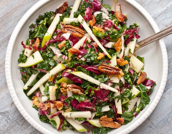 Kale Apple Pancetta Salad /  Once upon a Chef