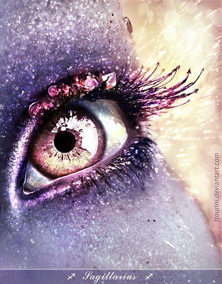 Purple Eye. Fantasy Make-Up. Photography.