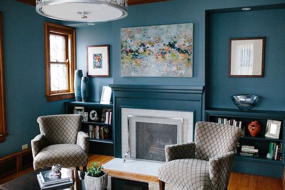 1001 Idees Deco Salon Bleu Canard Paon Petrole Du Goudron Et Des Plumes Salon Beige Mur Du Salon Murs Turquoise