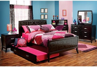 teenage girl bedroom sets. Gorgeous black bedroom set for a teen girl  I d change up the color scheme and is weird those curtains would defin