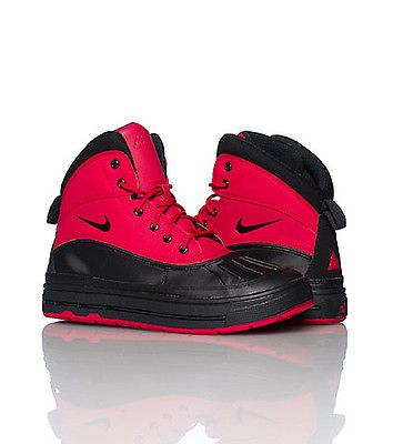 black and red acg nike boots