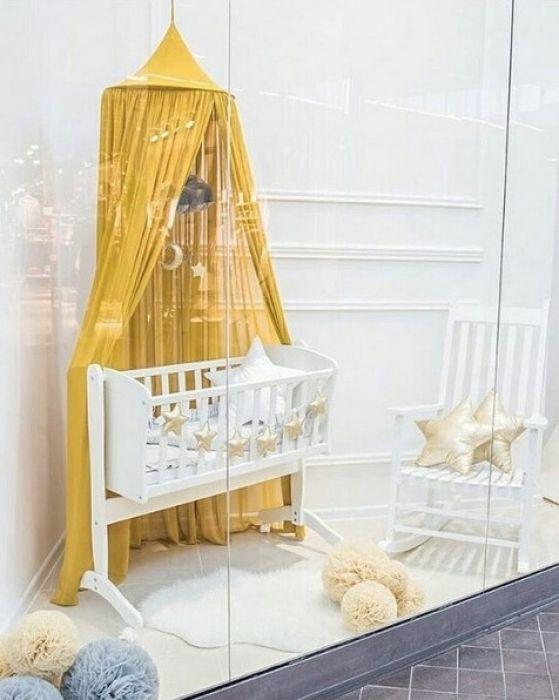 Cotton Sweets Baldachin Senfgelb Kinder Bett Kinderbett