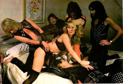 Judas Priest's racy photoshoot with a Penthouse Pet