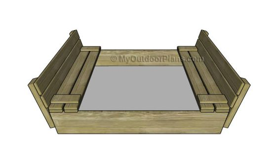 Sandbox with Cover Plans | MyOutdoorPlans | Free Woodworking Plans and Projects…