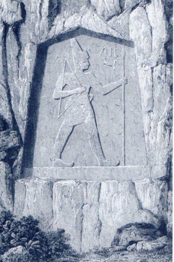Hittite, Karabel Charles Texier (Erdinç Bakla archive)