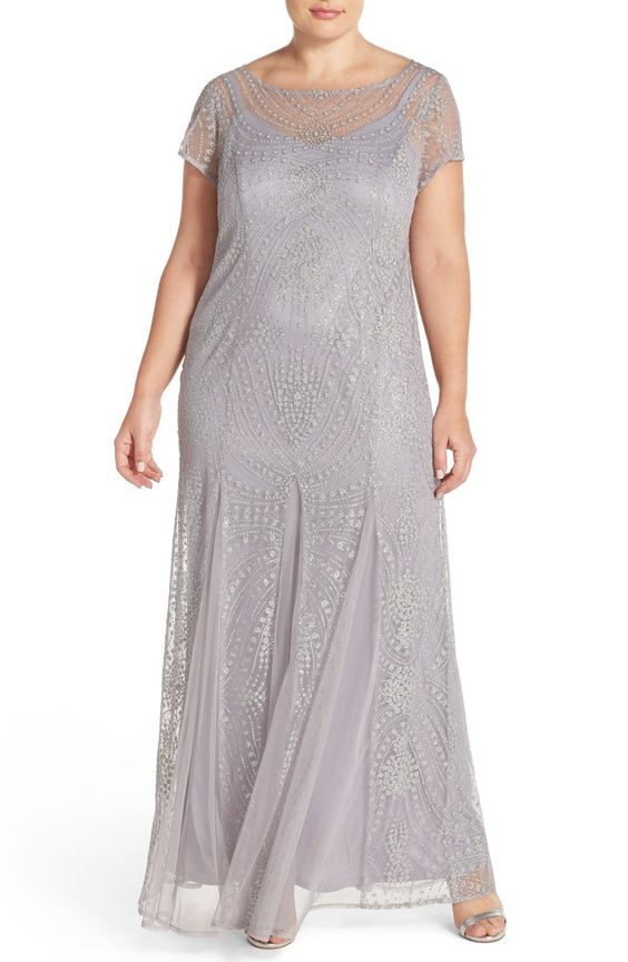 Brianna Embellished Illusion Gown (Plus Size) available at #Nordstrom