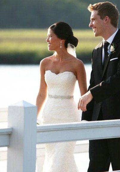 Maria - Rhinestone beaded bridal belt  sash, wedding sash belt, bridal accessories, crystal belt sash on Etsy, $79.00