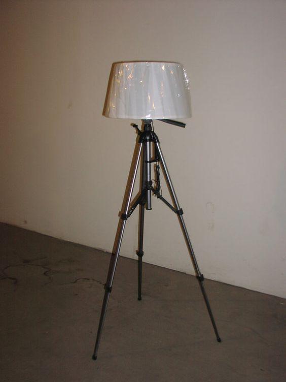 New Lamp Shades: Repurposed tripod Floor lamp with New lamp shade by Cosaslighting, $80.00,Lighting