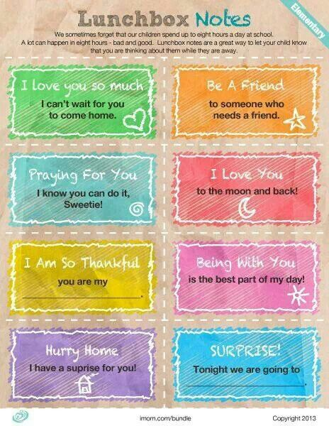 Lunchbox Quotes For Kids Pinterest Quotes