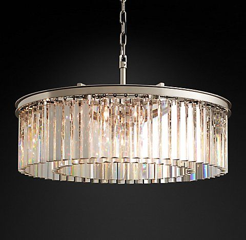 Rhys Glass Prism Chandelier Collection Rh With Images Round