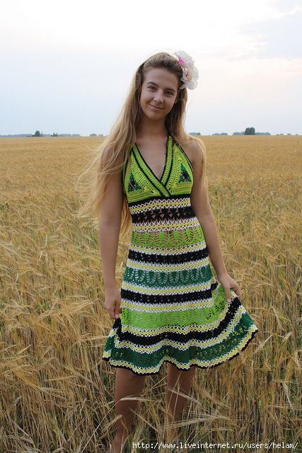 avec explications en russe: Crochet Fashion, Crochet Dresses, Crochet Dressy, Crochet Clothes, Dresses Crochet Knit, 3 Vestidos Crochet, Crochet 10, Crochet Clothing, Crochet