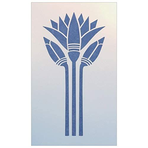 Amazon Com Egyptian Lotus Stencil The Artful Stencil Handmade Lotus Art Lotus Tattoo Design Art
