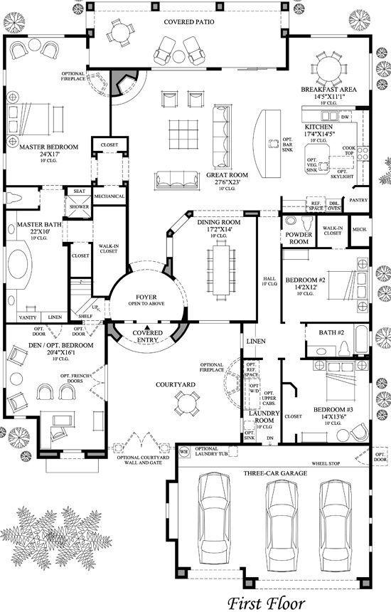 29 Barndominium Floor Plans Ideas To Suit Your Budget Barndominiumfloorplans Barndominiumideas Barndomi House Plans Courtyard House Plans House Floor Plans