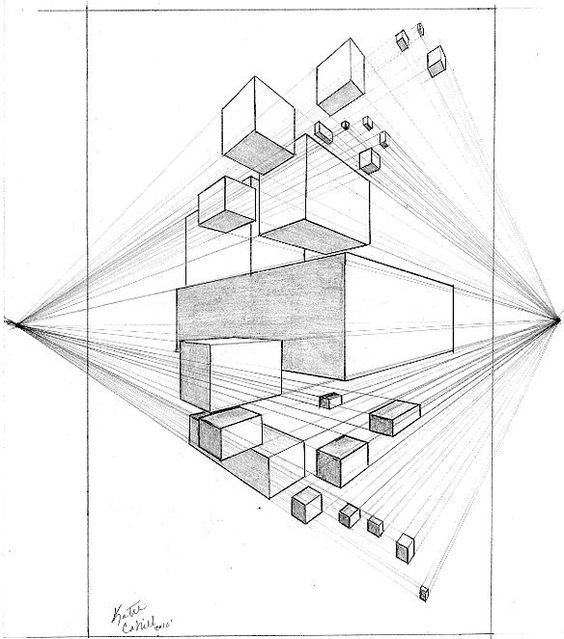 Point Perspective Drawing Lessons Drawings Katiecahillart