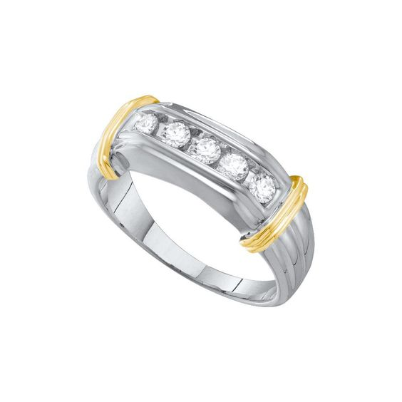 1-2CT-Diamond FASHION MENS BAND