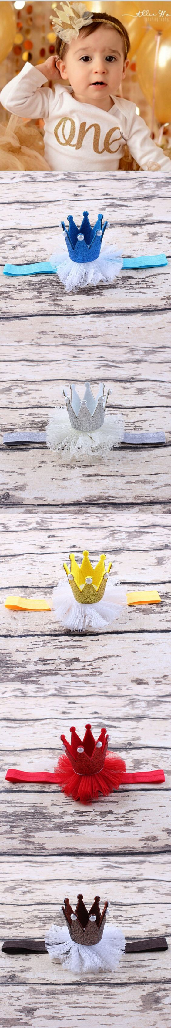 1pcs Baby Headbands Lovely Silk Crown Fashion Simple Sweet Lace Baby Headband Baby Head Ornaments crowns $2.1