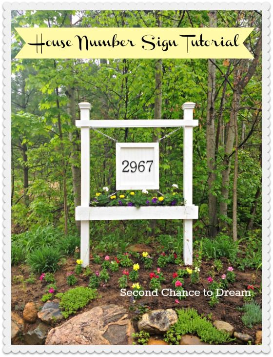 Plans to build a house number sign with planter
