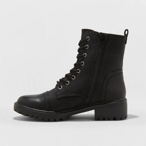 Women's Kamryn Faux Leather Combat Boot