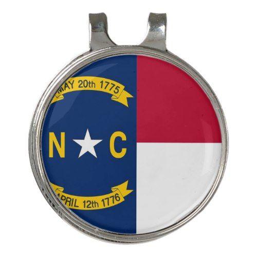 Golf Hat Clip And Ball Marker North Carolina Flag Zazzle Com Ball Markers Hat Clips North Carolina Flag