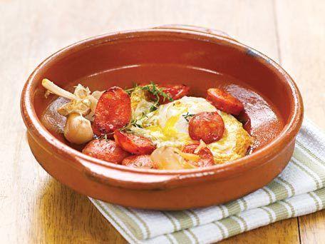 Jose Andres's Fried Egg With Chorizo Recipe — Dishmaps