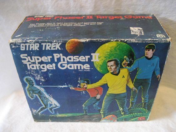 1976 Mego STAR TREK Super Phaser II Target Game w/ original BOX Kirk Spock toy ! | eBay