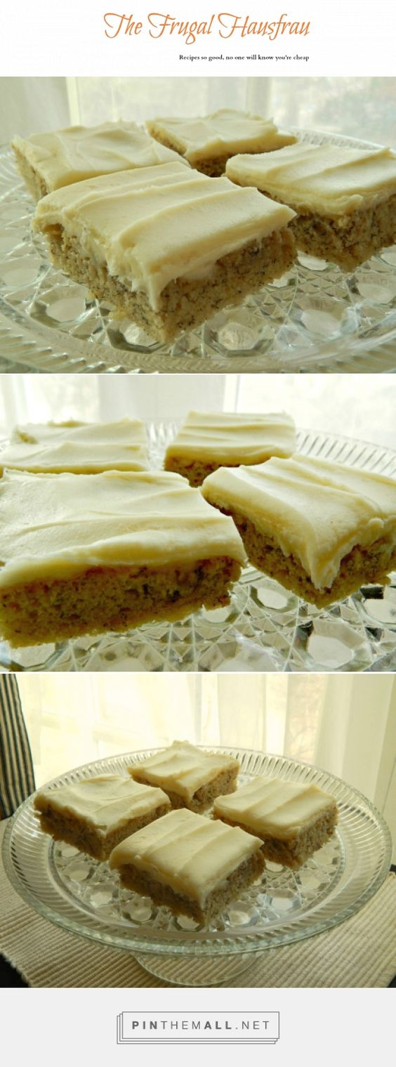Banana Sheet Cake - Make this in a jelly roll pan for the perfect proportion of cake to frosting! This is a very old recipe and is the BEST I've ever had. Passed to me by a friend who always carried extra copies of the recipe because it was asked for so many times, I had to do the same! Now you can see it on my blog! The cream cheese frosting is perfect - less sugar!