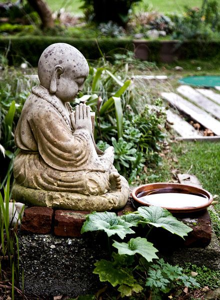 buddha in the garden silent retreat pinterest gardens beautiful and the pond. Black Bedroom Furniture Sets. Home Design Ideas