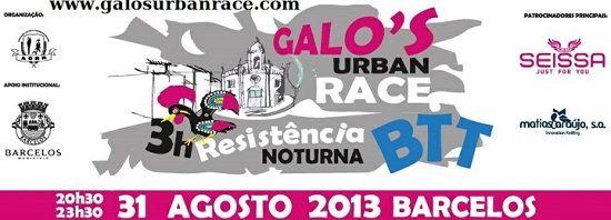 Desporto │Galos Urban Race │31 de Agosto │20h30 │Barcelos
