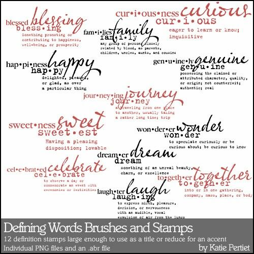Defining Words Brushes and Stamps- Katie Pertiet Brushes- DS276334 ...