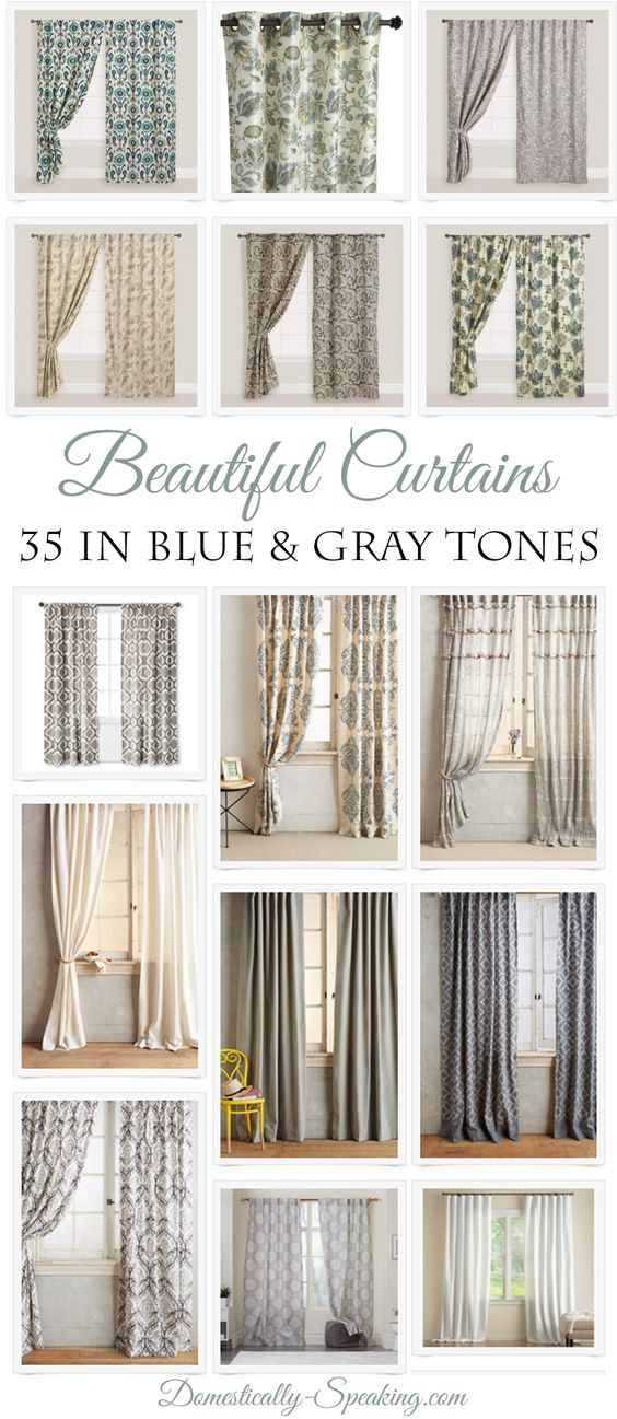 Beautiful curtain panel ideas for our master bedroom. I'm looking to start in the blue or gray tones so here's some gorgeous curtains that I'm looking at.