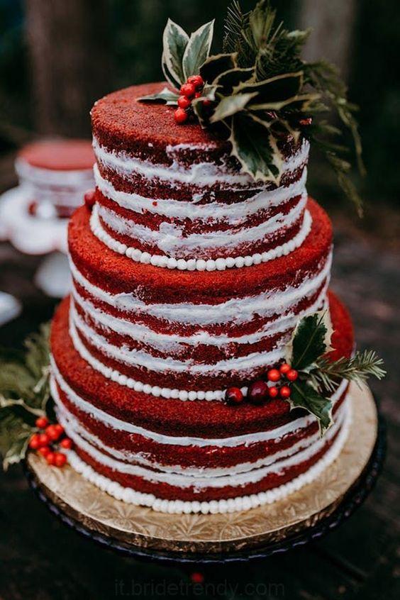 Christmas wedding cake! 5