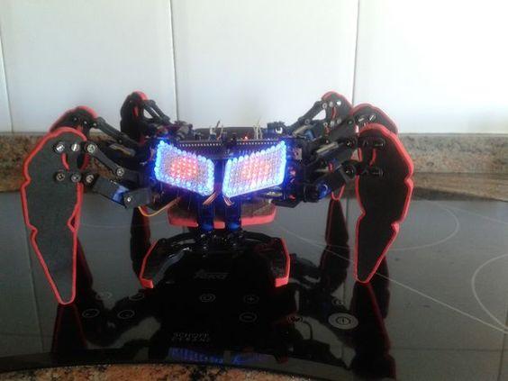 Picture of DIY handmade Hexapod with arduino (Hexdrake)