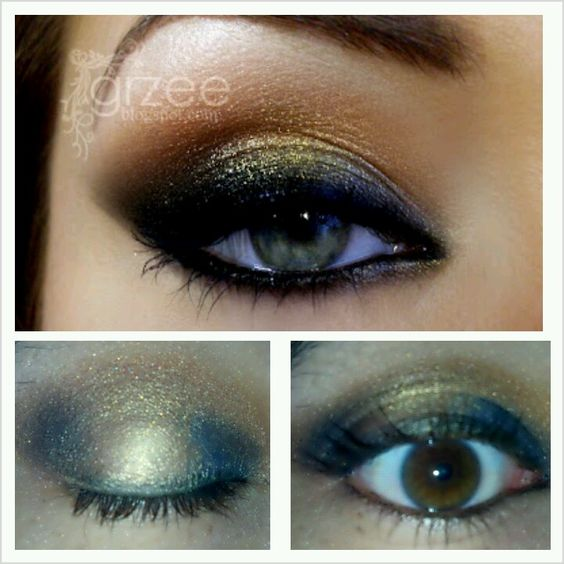 Smokey gold, bronze and blue...'Make' it 'Up' board