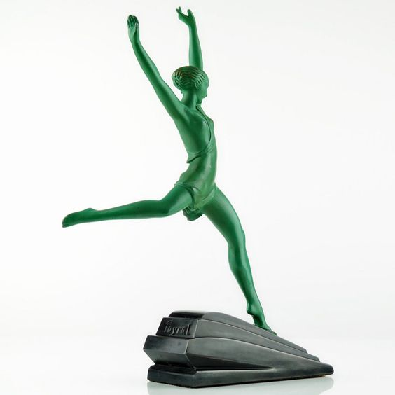 Max Le Verrier 1930s Art Deco Nude Dancer Sculpture Olympie by Le Faguays Fayral   eBay