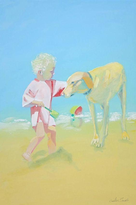 "Saatchi Art Artist Charles Stuart; Painting, ""Lanzerote Beach Scene"" #art"