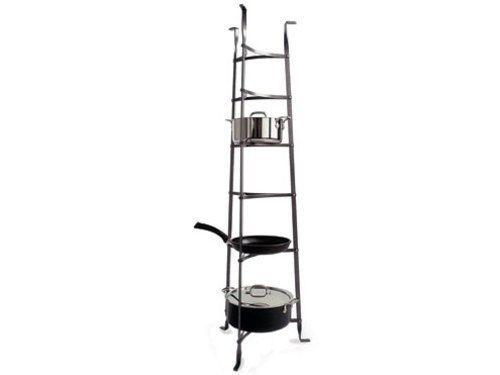 Enclume Premier 6-Tier Pot Rack Stand, Hammered Steel