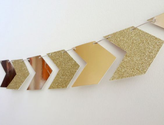 Gold Glitter Arrow Garland One Stylish Party by onestylishparty