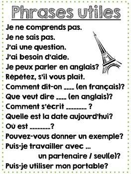 french homework phrases