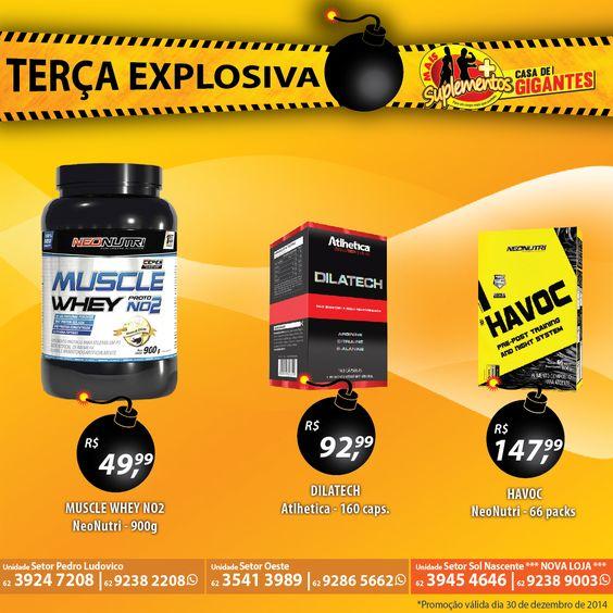 Terça Explosiva na Mais Suplementos, com produtos exclusivos para você detonar nos treinos e conquistar resultados melhores e mais rápidos, venha aproveitar!