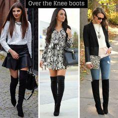sapatos para o inverno: over the knee bota acima do joelho - blogoolhaisso