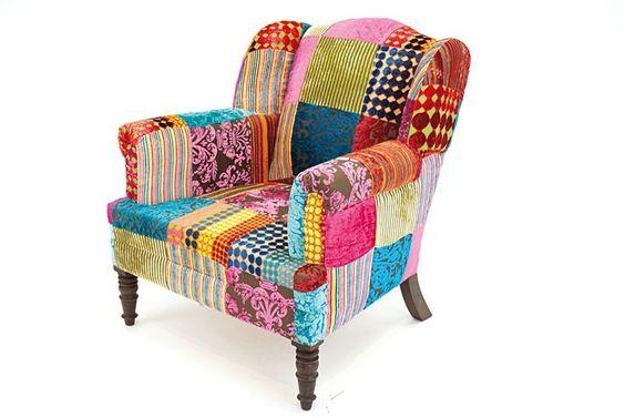 Fauteuil patchwork huis pinterest patchwork - Fauteuil crapaud patchwork ...