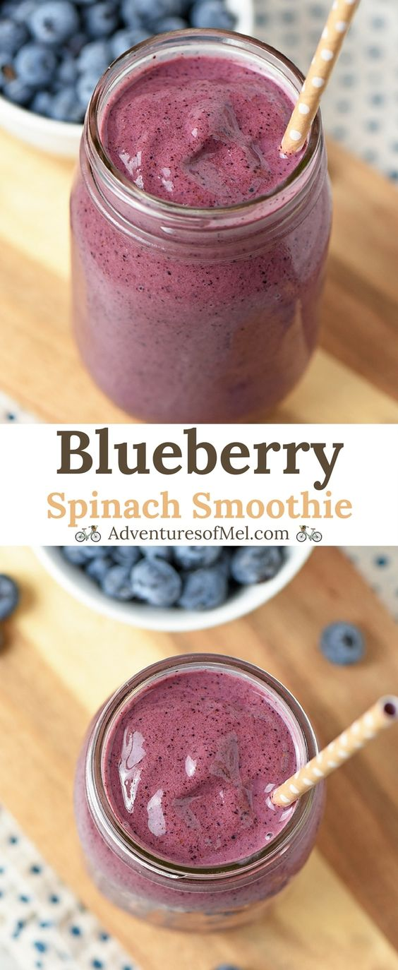 Blueberry Spinach Smoothie recipe that's healthy, quick, and an easy to make snack. Made with fresh spinach, plain Greek yogurt, and honey, also a tasty addition to mornings.